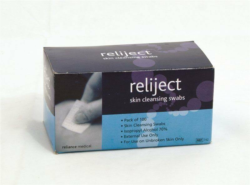 Reliance Reliject Pre Injection Wipes