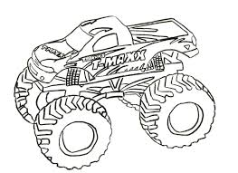 How To Draw A Easy Monster Truck Truck Drawing For Kids At ...