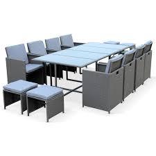 tables de jardin en resine table jardin résine tressée