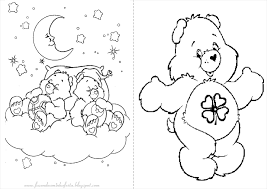 Cute Care Bears Coloring Pages