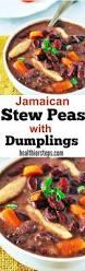 Jamaican Pumpkin Soup Vegan by Jamaican Stew Peas With Dumplings Spinners Vegan Healthier Steps