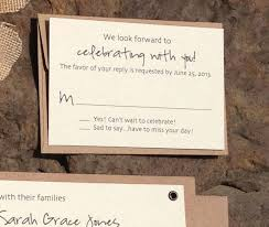 Little RSVP Cards To Be Included In The Invites Wedding RusticFall