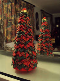 Quilted Style Folded Fabric Christmas Tree