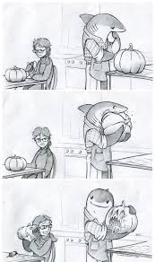 Easy Shark Pumpkin Carving by Carving Shark By Robthedoodler On Deviantart