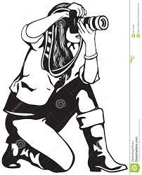 press photographer girl