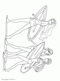 Mermaid Barbie Coloring Pages In A Tale Free Online