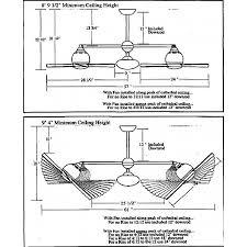 modern ceiling fan with dual motors