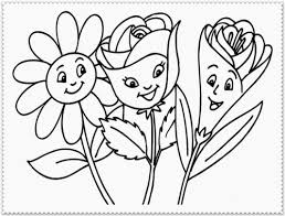 Spring Flower Coloring Pages Throughout Flowers Printable