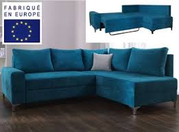 canape d angle bleu espaceadesign com meubles design à petit prix en stock