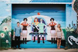 Deep Ellum Murals Address by David Mikayla A Colorful Romantic Ethereal Engagement