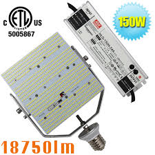 150w led bulb lights replace 400watt metal halide shoe box fixture
