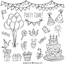 birthday decorations drawings best doodle ideas on month cards birthday decorations drawings
