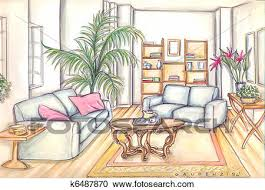 living room clipart k6487870 fotosearch