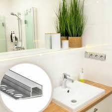 details zu led profile leiste küche badezimmer 2m fliesenprofile licht aluminium milchglas