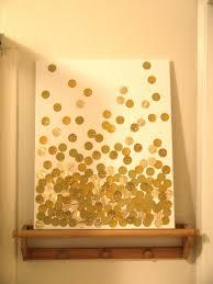 Diy Glitter Dots On Canvas Wall Art