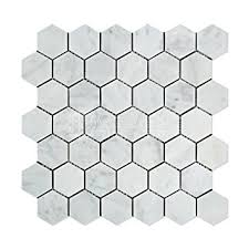 carrara white italian bianco carrara marble 2 inch hexagon