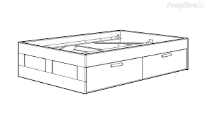 mount the bed frame with storage ikea brimnes