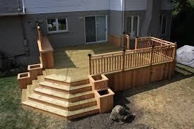 Backyard Deck Design Ideas Wood Patio Decks Home Design Ideas