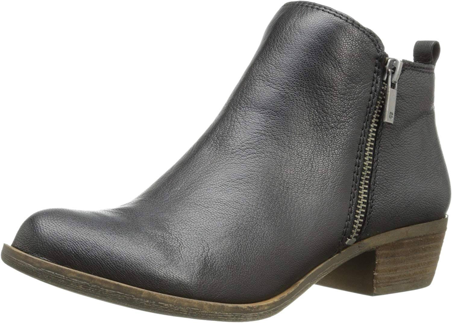 Lucky Women's Basel Ankle Bootie - Black, Size 7.5