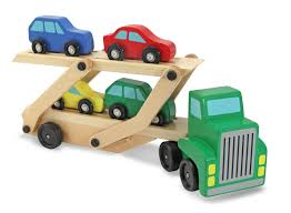 100 Toy Car Carrier Truck Melissa Doug Wooden Rier