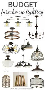 Favorite Budget Farmhouse Lighting Finds