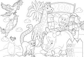 Zoo Coloring Pages Marvelous Animals Many Strong Pagejpg Of Large Size