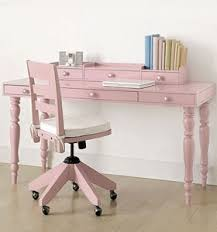 Pink Shabby Desk And Chair