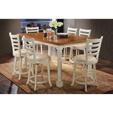 Acme Furniture Wilton 7 Piece Rectangular Counter Height Dining