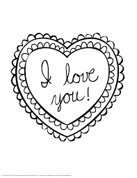 Heart Coloring Pages For Teenagers Love You Valentine