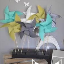 10 moulins à vent turquoise vert anis gris décoration chambre