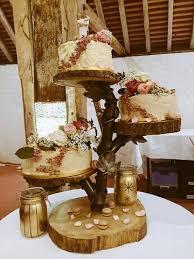 Naked Wedding Cake Tower RUSTIC BARN WEDDING CAKE