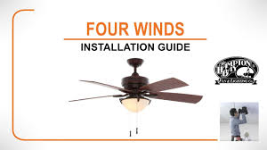 Brookhurst Ceiling Fan Downrod by Four Winds Ceiling Fan Installation Guide Youtube