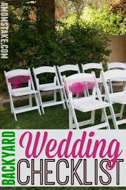 DIY Backyard Wedding Checklist - A Mom's Take Backyard Wedding Checklist 12 Beautiful Outdoor Home Ceremony Advice Images With Awesome Movie 87 Best Planning Images On Pinterest Planning Best 25 Checklists Ideas List Diy Reception Ideas Image A Diy Moms Take Garden Design With Water Feature Gallery Elegant Backyard Wedding Casual Small On Budget Amys The Ultimate For The Organized Bride My Dj Checklist Music _ Memories Dj Service Planner