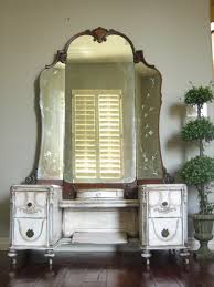 Double Sink Vanity With Dressing Table by European Paint Finishes Antique Dressing Vanity Vintage Bathroom