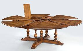 Round Dining Table For 10 Extra Large Solid Walnut Expandable Seats Person