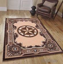 Texas Star Western Lodge Rustic Brown Area Rug QUICK SHIPPING