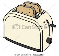 Electric Toaster Hand Drawing Of A Cream