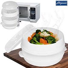 steamer cuisine cuisine elegance 2 tier microwave cooker steamer vegetable rice