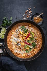 leckeres linsen curry mit mango und kokosmilch cremig