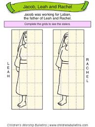 Sunday School Activity About Leah Rachel For Ages 7 12