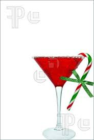 Martini Glass With Candy Cane Clipart 7