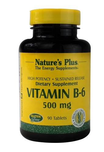 Nature's Plus Vitamin B-6 Supplement - 500mg, 90 Tablets