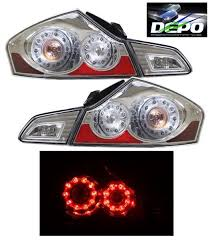 led tail lights chrome depo for 07 13 infiniti g35 g37 11 12 g25