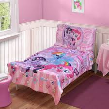 Walmart Bed Sheets by My Little Pony 4 Pc Toddler Bedding Set Walmart Com