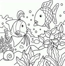 Charmingbeautiful Free Rainbow Fish Stories And Tales Coloring Pages Printable For Kids