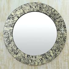 Brown Mosaic Bathroom Mirror by Mosaic Round Wall Mirror Silver Mosaic Mirror Wall Sconce Mosaic