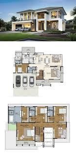 100 Modern Home Blueprints LAND AND HOUSES Layout House Plans House Design
