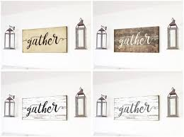 Gather Sign Gift For Her Wall Art Rustic Home Decor Shiplap Canvas Farmhouse Large Wood Fixer Upper