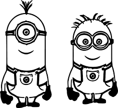 Download Coloring Pages Minion Free Best 2017
