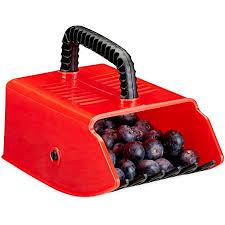 relaxdays rot schwarz beerenpflücker erntehelfer kunststoff für heidelbeeren johannisbeeren blaubeeren beerenkamm